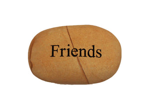 Friends Small Carved Beach Stone