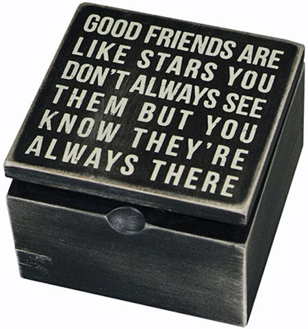 Good Friends Are Like Stars Keepsake Box