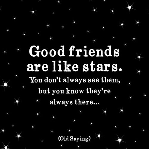 Friends are like Stars Quotable Card or Magnet