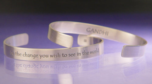 Gandhi Be The Change Cuff Bracelet