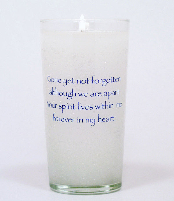 Gone Yet Not Forgotten Memorial Candle