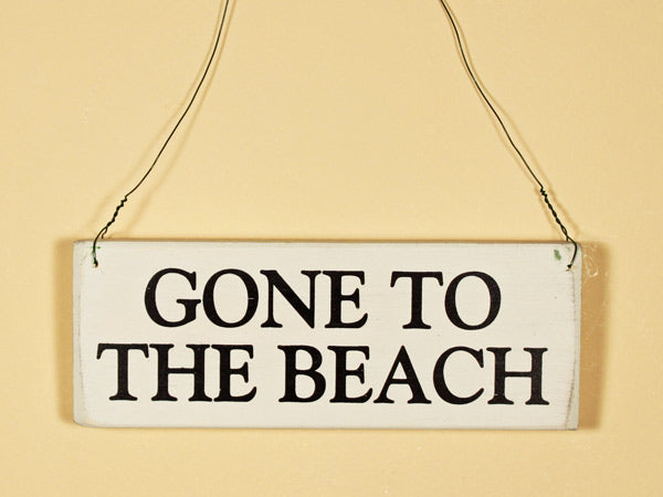 Gone To The Beach Mini Hanging Sign