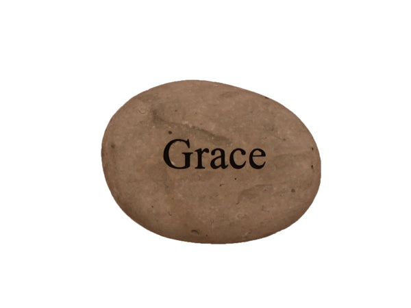 Grace Small Carved Beach Stone