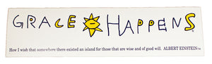 Grace Happens Rectangular Sticker