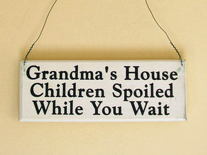 Grandma's House Mini Hanging Sign
