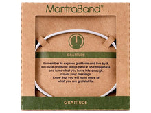 Load image into Gallery viewer, Gratitude Mantraband Cuff Bracelet