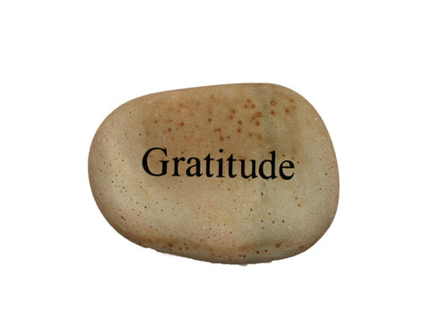 Gratitude Small Carved Beach Stone