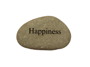 Happiness Small Carved Beach Stone