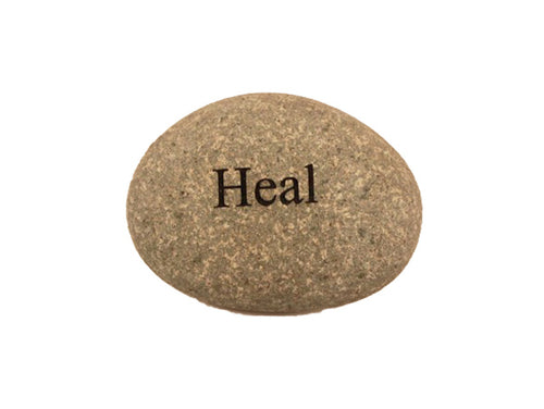 Heal Small Carved Beach Stone