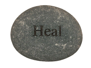 Heal Carved River Stone