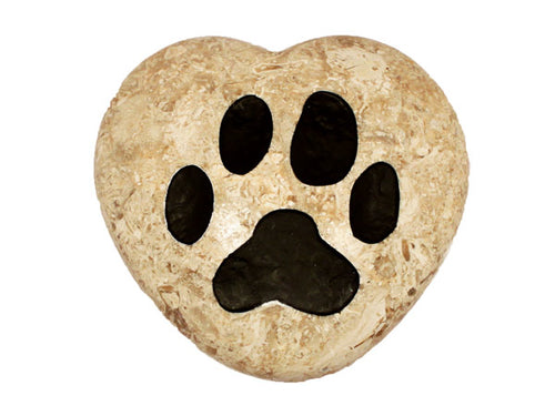 Paw Print Large Engraved Heart
