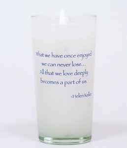What We Have Once Enjoyed Memorial Candle