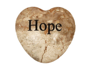 Hope Large Engraved Heart