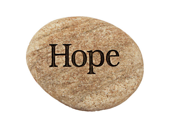 Hope Carved River Stone