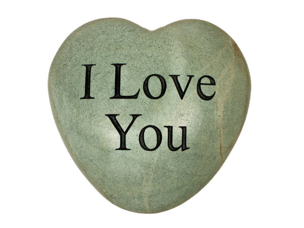 I Love You Large Engraved Heart