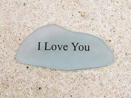 I Love You Sea Glass