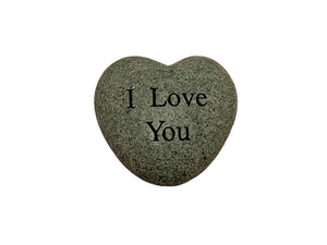 I Love You Small Engraved Heart
