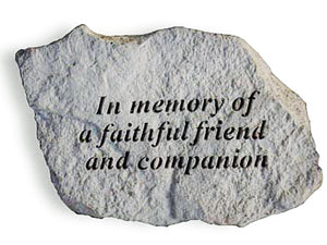 In Memory of a Faithful Friend Concrete Stone