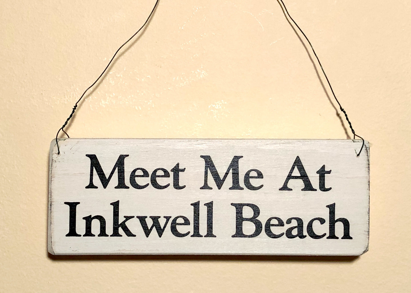 Meet Me At Inkwell Beach Small Sign