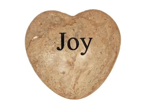 Joy Large Engraved Heart