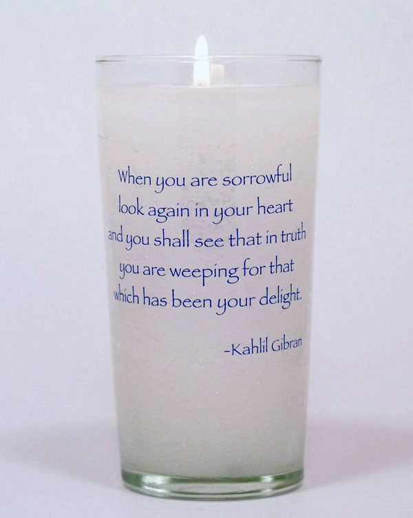 When you are Sorrowful Memorial Candle