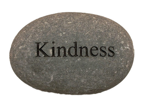 Kindness Carved River Stone