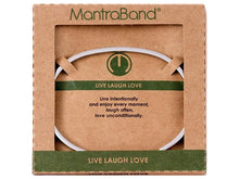 Load image into Gallery viewer, Live Laugh Love Mantraband Cuff Bracelet