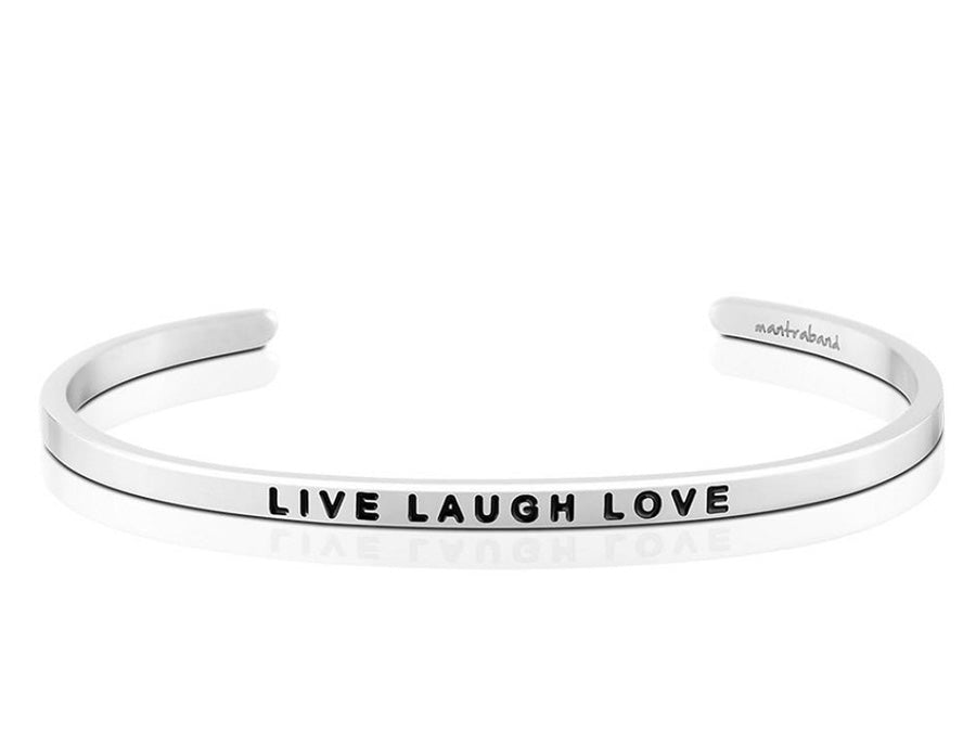 Live Laugh Love Mantraband Cuff Bracelet