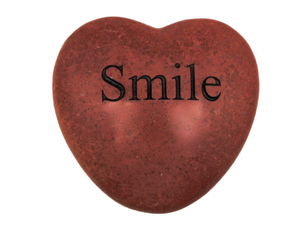 Smile Large Engraved Heart