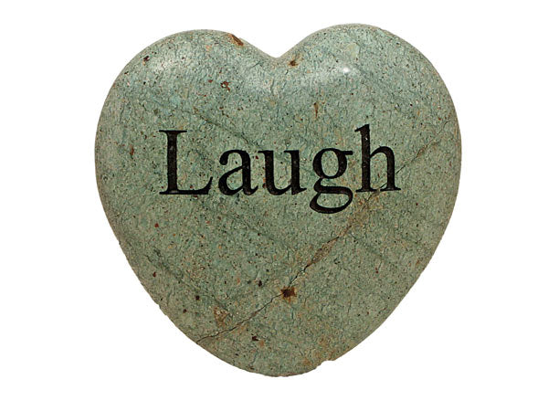 Laugh Large Engraved Heart