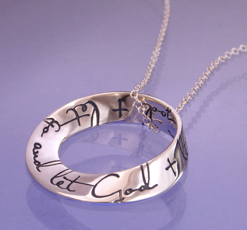 Let Go Let God Mobius Necklace
