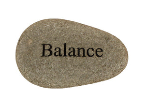 Balance Carved River Stone