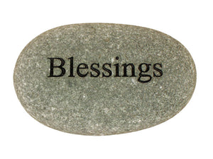 Blessings Carved River Stone