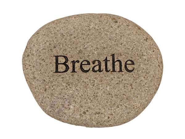 Breathe Carved River Stone