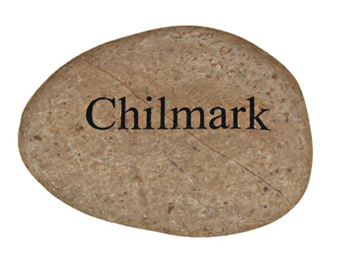 Chilmark Carved River Stone