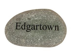 Edgartown Carved River Stone