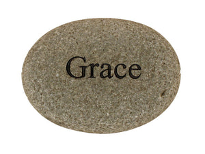 Grace Carved River Stone