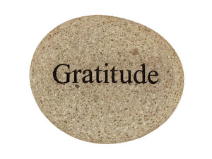 Gratitude Carved River Stone