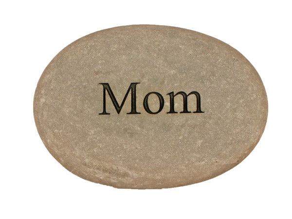 Mom Carved River Stone