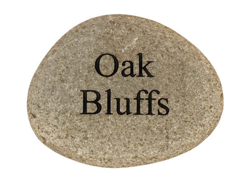 Oak Bluffs Carved River Stone