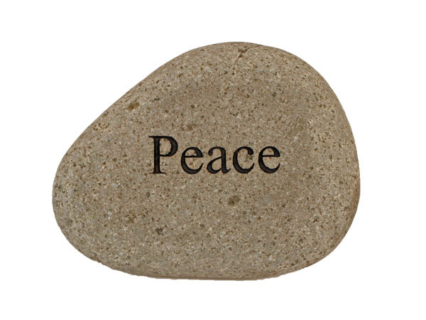 Peace Carved River Stone