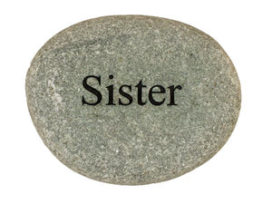 Sister Carved River Stone