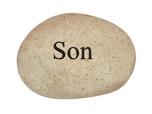 Son Carved River Stone