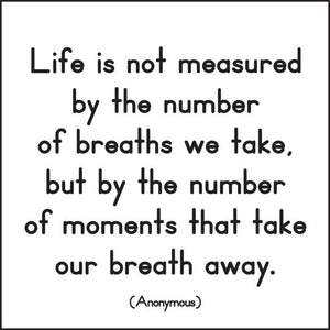 Life Measured Quotable Card or Magnet