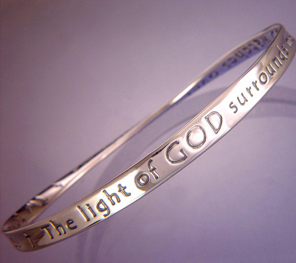 Sterling Silver The Light of God Mobius Bracelet