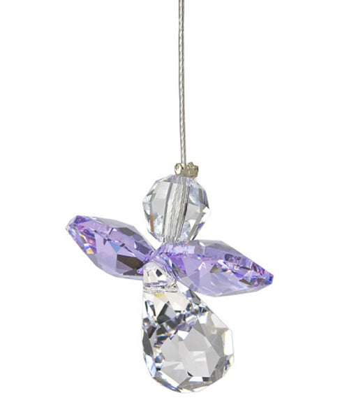 Lilac Crystal Angel Suncatcher