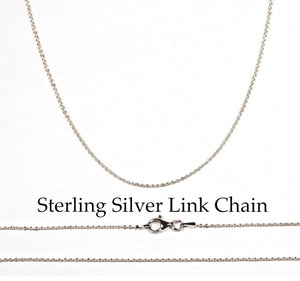 Sterling Silver Serenity Word Tag Charm