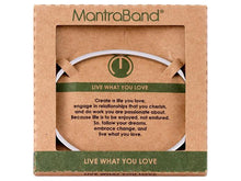 Load image into Gallery viewer, Live What You Love Mantraband Cuff Bracelet