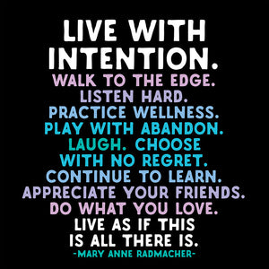 Live with Intention Quotable Card or Magnet
