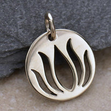 Load image into Gallery viewer, Sterling Silver Lotus Charm